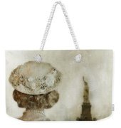 Woman In Hat Viewing The Statue Of Liberty  Weekender Tote Bag