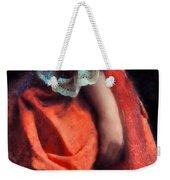 Woman In Red 18th Century Gown Weekender Tote Bag