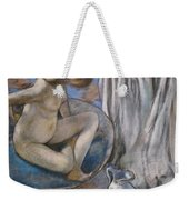 Woman In The Tub Weekender Tote Bag by Edgar Degas