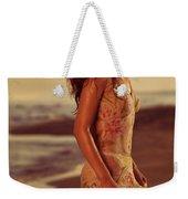 Woman In Wet Dress At The Beach Weekender Tote Bag
