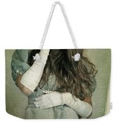 Woman In White Mask Wearing 1930s Dress Weekender Tote Bag