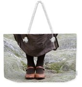 Woman Legs With Shoes Weekender Tote Bag