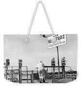 Woman Looking At Alcatraz Weekender Tote Bag