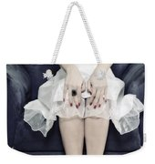 Woman On Chair Weekender Tote Bag by Joana Kruse