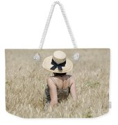 Woman On The Wheat Field Weekender Tote Bag