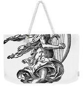 Woman Playing The Harp Weekender Tote Bag