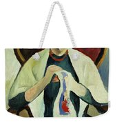 Woman Sewing Weekender Tote Bag