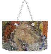 Woman Washing Her Back Weekender Tote Bag by Edgar Degas