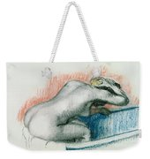 Woman Washing In The Bath Weekender Tote Bag