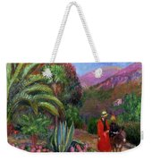Woman With Child On A Donkey Weekender Tote Bag