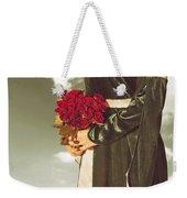 Woman With Roses Weekender Tote Bag by Joana Kruse