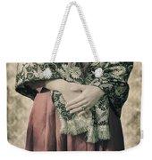 Woman With Shawl Weekender Tote Bag
