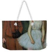 Woman With Two Little Girls Weekender Tote Bag