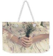 Woman With Wild Flowers Weekender Tote Bag by Joana Kruse