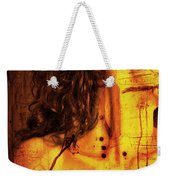 Woman With Words And Numbers Weekender Tote Bag