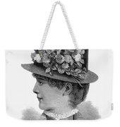 Womans Hat, 1883 Weekender Tote Bag