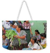 Women At The Chichicastenango Market Weekender Tote Bag