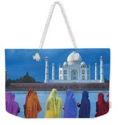Women In Colorful Saris In Front Of The Weekender Tote Bag