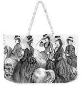 Womens Fashion, 1870 Weekender Tote Bag