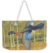 Wood Duck Flying Weekender Tote Bag