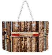 Wood Fence Door Weekender Tote Bag