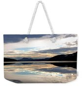 Wood Lake Mirror Image Weekender Tote Bag