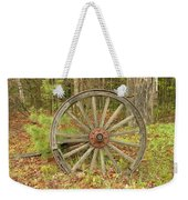 Wood Spoked Wheel Weekender Tote Bag