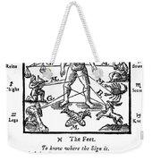 Woodcut, 1750 Weekender Tote Bag by Science Source