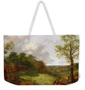 Wooded Landscape With A Cottage - Sheep And A Reclining Shepherd Weekender Tote Bag