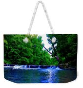 Wooded Waterfall Weekender Tote Bag by Bill Cannon