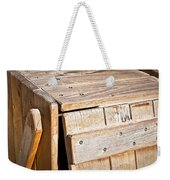 Wooden Crate Weekender Tote Bag by Tom Gowanlock