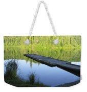 Wooden Dock On Lake Weekender Tote Bag