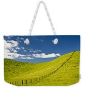 Wooden Fence Posts Running Through A Weekender Tote Bag