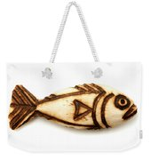 Wooden Fish Weekender Tote Bag by Fabrizio Troiani
