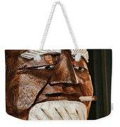 Wooden Head With Cigarette Weekender Tote Bag