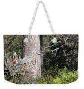 Woodland Great Blue Heron Weekender Tote Bag