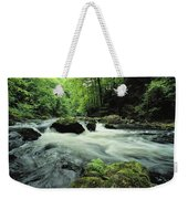 Woodland Stream And Rapids, Time Weekender Tote Bag