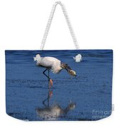 Woodstork Catches Fish Weekender Tote Bag