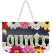 Word Art Country Daisy 2 Weekender Tote Bag by Cynthia Amaral