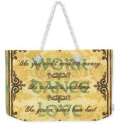 Work Dance Love Weekender Tote Bag