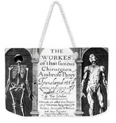 Workes Of That Famous Chirurgion Weekender Tote Bag by Science Source