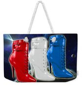 World Domination In Red White And Blue Boots Weekender Tote Bag