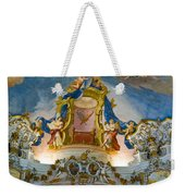 World Heritage Frescoes Of Wieskirche Church In Bavaria Weekender Tote Bag