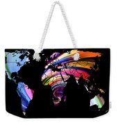 World Map Abstract Painting 2 Weekender Tote Bag