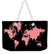 World Map Pink Weekender Tote Bag
