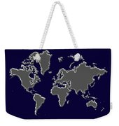 World Map Silver Weekender Tote Bag