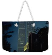 World Trade Center At Dusk Weekender Tote Bag