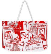 Worth Weil Songs Weekender Tote Bag