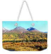 Wrangell Mountains Colors Weekender Tote Bag