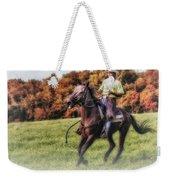 Wrangler And Horse Weekender Tote Bag by Susan Candelario